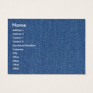 Original textile fabric blue fashion jean denim business card