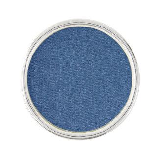 Original textile fabric blue fashion jean denim lapel pin