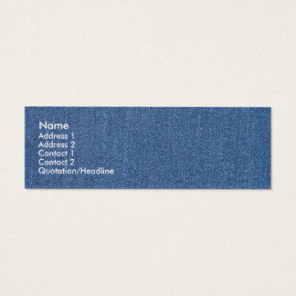 Original textile fabric blue fashion jean denim mini business card