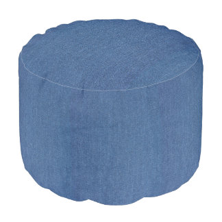 Original textile fabric blue fashion jean denim pouf