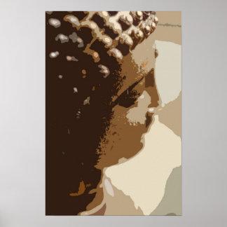 Original Thai Buddha Painting Poster