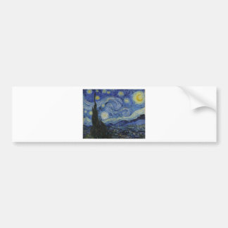Original the starry night paint bumper sticker