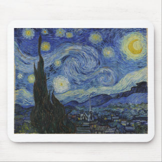 Original the starry night paint mouse pad