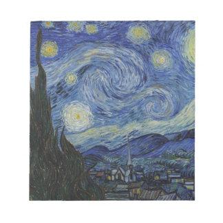 Original the starry night paint notepad