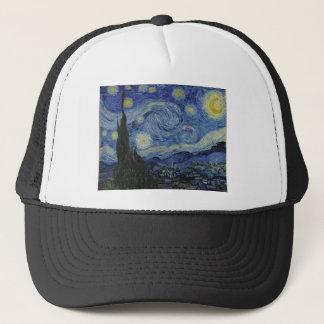 Original the starry night paint trucker hat