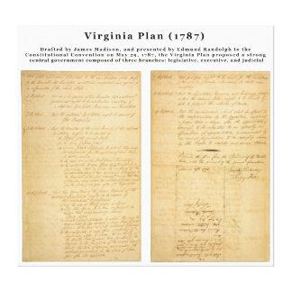 ORIGINAL The Virginia Plan 1787 Gallery Wrap Canvas