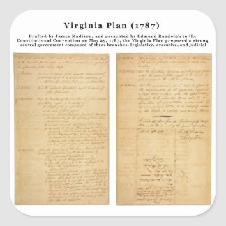 ORIGINAL The Virginia Plan 1787 Stickers