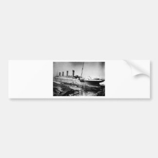 original titanic picture under construction bumper sticker