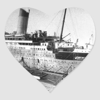 original titanic picture under construction heart sticker