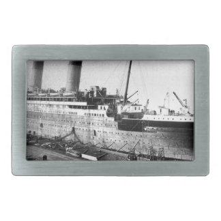 original titanic picture under construction rectangular belt buckles
