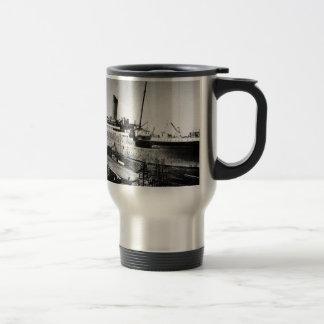 original titanic picture under construction travel mug