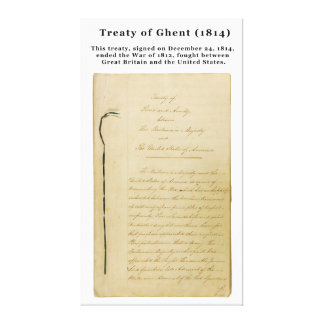 ORIGINAL Treaty of Ghent 8 Stat. 218 1814 Stretched Canvas Print