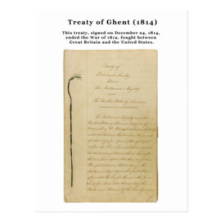 ORIGINAL Treaty of Ghent 8 Stat. 218 1814 Postcard