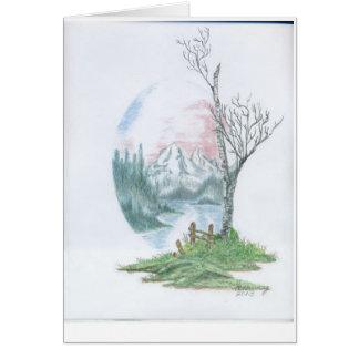 Original Tree Drawing 1 Card