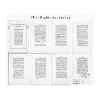 ORIGINAL United States Civil Rights Act of 1964 Canvas Print