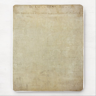 Original United States Declaration of Independence Mouse Pad
