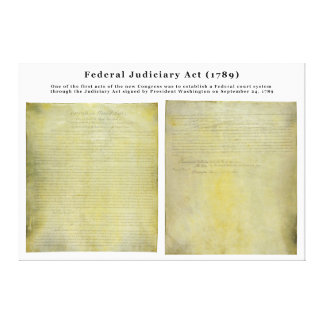 ORIGINAL United States Judiciary Act of 1789 Stretched Canvas Prints