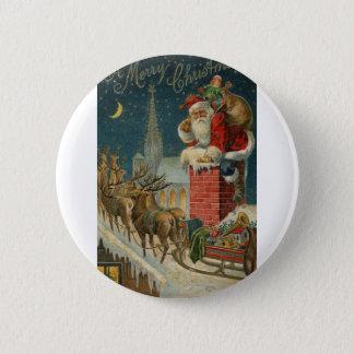 Original vintage 1906 Santa clous poster 6 Cm Round Badge