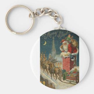 Original vintage 1906 Santa clous poster Key Ring