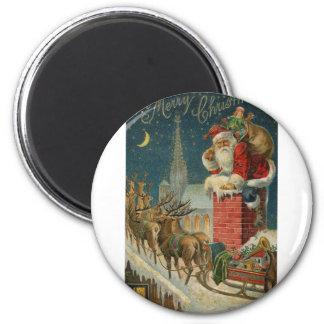 Original vintage 1906 Santa clous poster Magnet