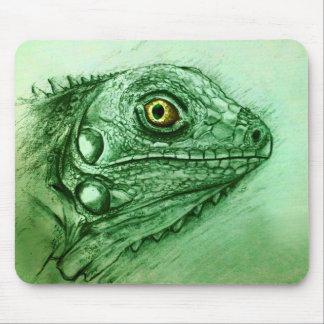 Original vintage art mousepad - Iguana