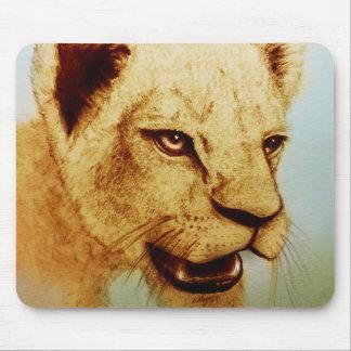 Original vintage art mousepad - Lion