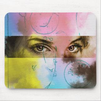 Original vintage art mousepad - Stare