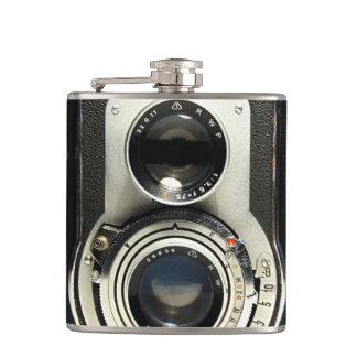 Original vintage camera hip flask