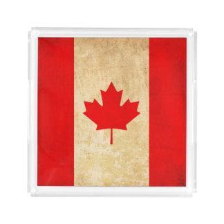 Original Vintage Patriotic National Flag of CANADA Acrylic Tray