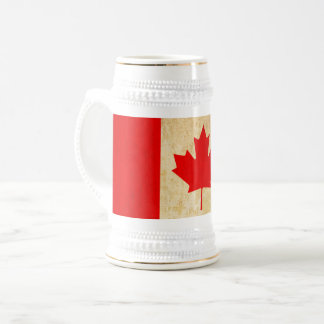 Original Vintage Patriotic National Flag of CANADA Beer Stein