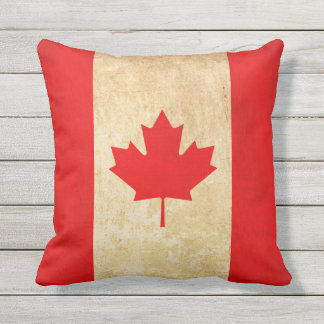 Original Vintage Patriotic National Flag of CANADA Cushion