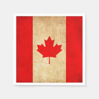 Original Vintage Patriotic National Flag of CANADA Disposable Serviette