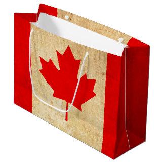 Original Vintage Patriotic National Flag of CANADA Large Gift Bag