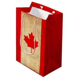 Original Vintage Patriotic National Flag of CANADA Medium Gift Bag