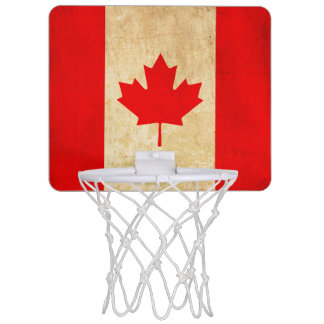 Original Vintage Patriotic National Flag of CANADA Mini Basketball Hoop