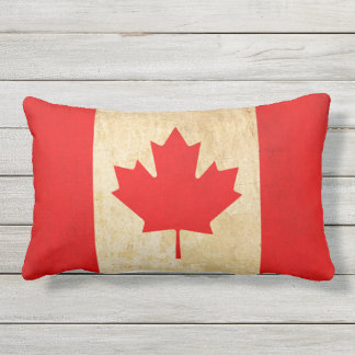 Original Vintage Patriotic National Flag of CANADA Outdoor Cushion