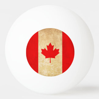 Original Vintage Patriotic National Flag of CANADA Ping Pong Ball