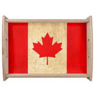 Original Vintage Patriotic National Flag of CANADA Serving Tray