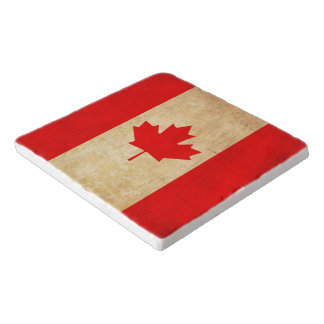 Original Vintage Patriotic National Flag of CANADA Trivet