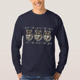 Original Watercolor Lone Wolf Quote Animal Nature T-Shirt