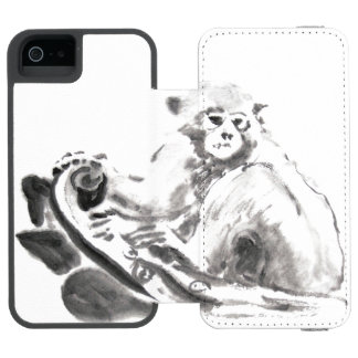 Original Watercolor Monkey Year 2016 Incipio Watson™ iPhone 5 Wallet Case