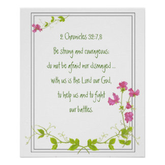Original Watercolor Sweet Pea with Scriptures Poster