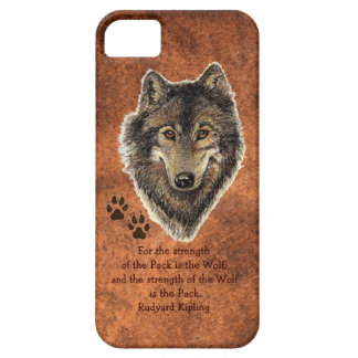 Original Watercolor Wolf, Tracks Family Strength iPhone 5 Case