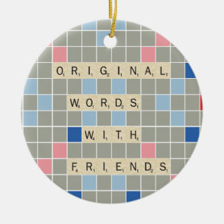 Original Words With Friends Ceramic Ornament