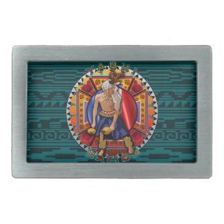 Original Yaqui Nation Deer Dancer Rectangular Belt Buckle