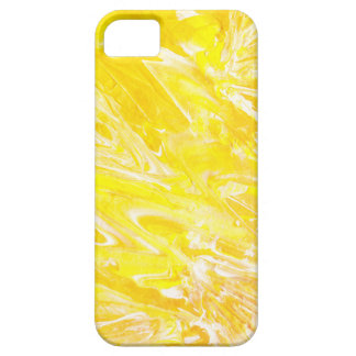 Original Yellow Abstract Painting iPhone Case