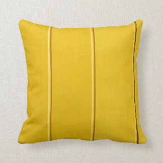 Original yellow/blue pillow with wooden pattern