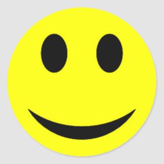 Original Yellow Smiley Face Stickers