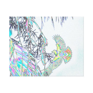 Orioles In-Flight Abstract Canvas Print