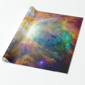 Orion Nebula Colorful Galaxy Wrapping Paper